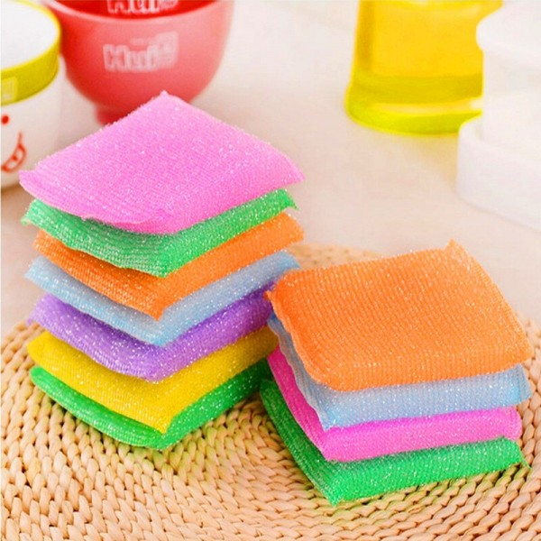Антимикробная губка для мытья посуды (4 шт)