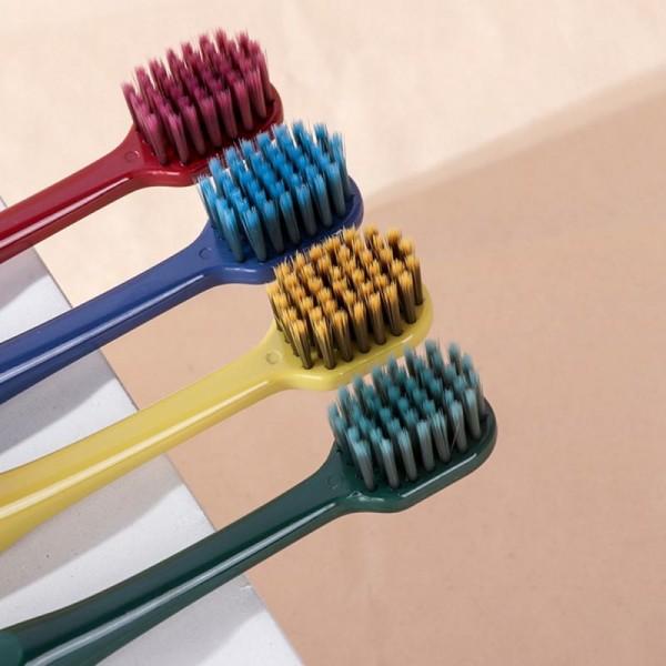 Зубная щетка из бамбукового угля (2 шт Синий+желтый)