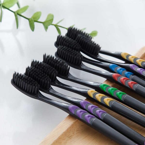Зубные щетки из бамбукового угля (10 шт)